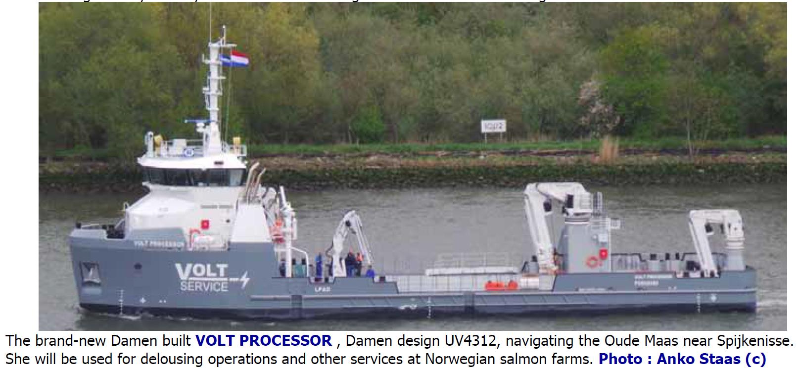 VOLT Service AS, Bygg nr  573104 ved Damen Shipyards